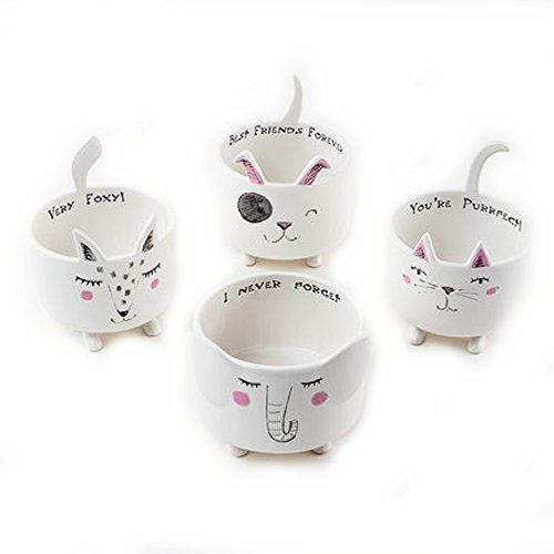 Animal Ceramic Bowls Set of 4 by One Hundred 80 Degrees