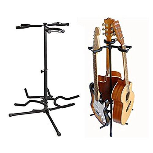 asatr adjustable height tripod guitar stands electric guitar bass ukulele stands three heads. Black Bedroom Furniture Sets. Home Design Ideas