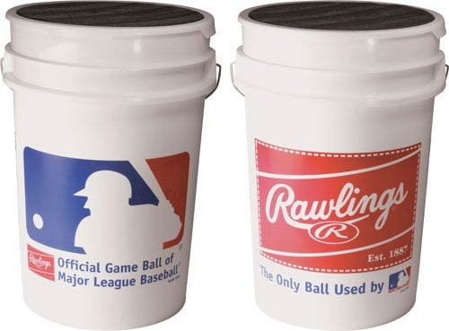 ROLB1X Practice Baseballs in Bucket (3 Dozen) by Rawlings