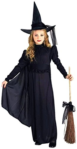 Forum Novelties Classic Witch Child Costume, Medium, Black