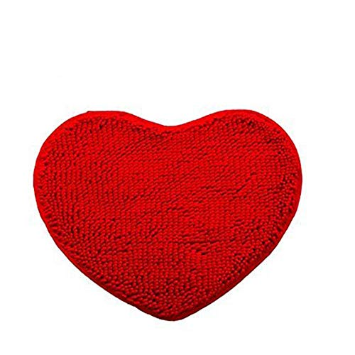 (Area Rug Non-Slip Heart Shaped Decoration Red Kitchen Rugs Pet Rug Microfiber Rug Door Mats Fluffy Bath Shower Mat Toilet Floor Rug Living Room Rug Set Hatsukoi,20'' x 24'')