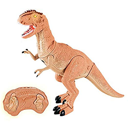 Liberty Imports Dino Planet Remote Control RC Walking Dinosaur Toy with Shaking Head, Light Up Eyes and Sounds (T-Rex)