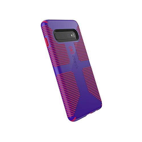 Speck Products CandyShell Grip Samsung Galaxy S10 Case, Ultraviolet Purple/Ruby Red ()
