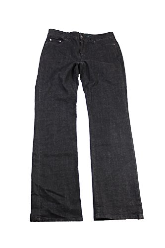 Lauren Straight Leg Jeans (Lauren Ralph Lauren Womens Denim Slimming Straight Leg Jeans Black 6)