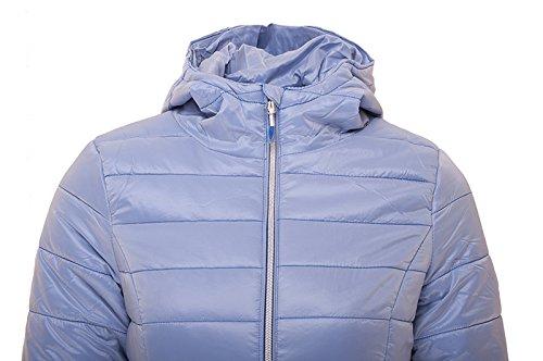 Soffiato Blu Ss17 Kud003 blu Imbottito Donne Signore Morbido Fit 4f Leggero Per Trapuntato Piumino Slim IvpBw6x
