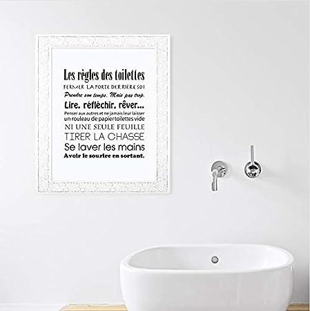 Gaowei Franzosisch Badezimmer Regeln Zitieren Leinwand Kunstdruck