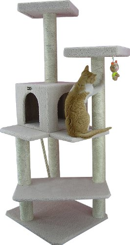 Armarkat Cat tree Furniture Condo, Height -50-Inch to 60-Inch 41kVjE3nUyL