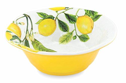 Michel Design Works Melamine Medium Serving Bowl, Lemon Basil
