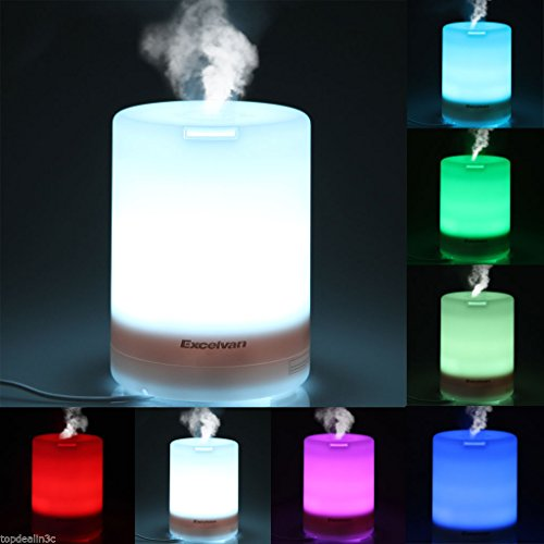US Stock 300ml LED Essential Oil Aroma Diffuser Ultrasonic Humidifier Air Aromatherapy