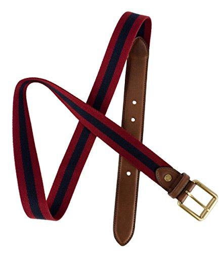 Polo Ralph Lauren Men's Striped Webbed Cotton Belt-DW-42 - Lauren Cotton Belt