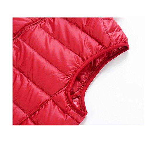 abrigo de breve párrafo recta mantener 03 caliente cuello macho down Chaquetas la chaleco cremallera ligero vwTTAqd