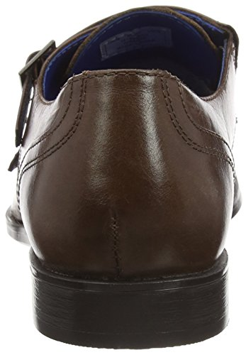 Red Tape Grange, Men's Monk Strap Shoes Brown