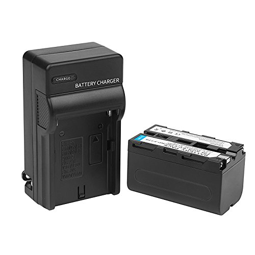 D&F NP-F750 Li-ion Replacement Battery and Recharge Charger for Sony NP-F750 NP-F770 Camcorder LED Video Light by D&F