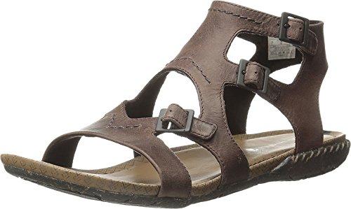 Merrell Women's Whisper Buckle Gladiator Sandal,Brown,9 M - Sandal Womens Comfort
