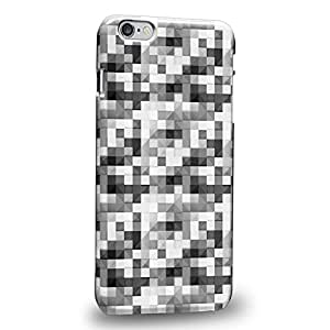Case88 Premium Designs Art Black And White Cube Puzzle Geometric Pattern Carcasa/Funda dura para el Apple iPhone 6 Plus 5.5""