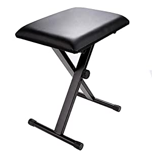 X-Style Adjustable Padded Keyboard Bench Leather Piano Stool  sc 1 st  Amazon.com : leather piano stool - islam-shia.org