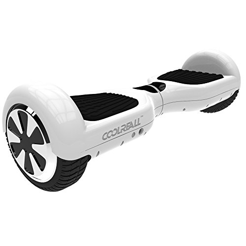 CoolReall Self Balancing Scooter Two Wheel Self Balance Electric Board Drifting Personal Transporter Mini Unicycle with Led Light(White)