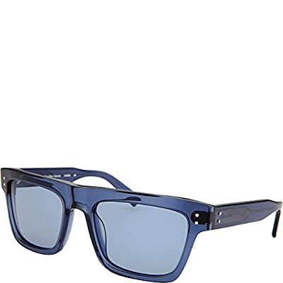 Calvin Klein Eyewear Square Sunglasses (Blue/Translucent)