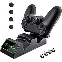 Cargador Mando PS4 Hezbjiti PS4 Estación de carga USB Base de Carga Rápida para Sony Playstation 4 / PS4 / PS4 Pro / PS4…