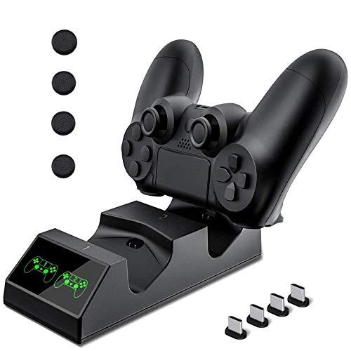 Cargador Mando PS4 Hezbjiti PS4 Estación de carga USB Base ...