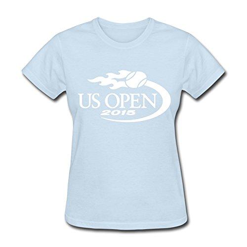 Women's U S US Open 2015 Logo O-neck Tshirt Size L SkyBlue