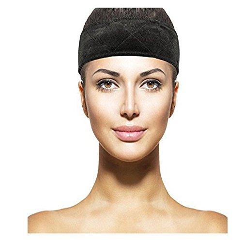Price comparison product image Eastmermaid fashion lace grip wig band adjustment Flexible Wig Velvet wig bands 3 color (Black+Brown+Beige) (Black)
