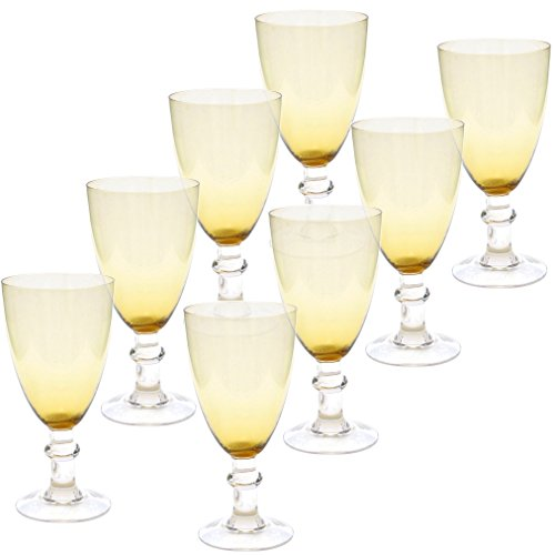 Certified International All Purpose Goblet (Set of 8), 16 oz, Dark Amber