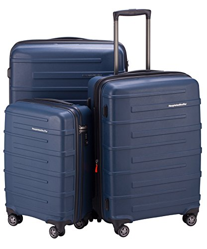 "HAUPTSTADTKOFFER Ostkreuz Luggages Set Matt Suitcase Set Hardside Spinner Trolley Expandable (20"", 24"" & 28"") TSA Blue by Hauptstadtkoffer"