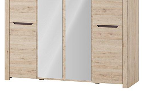 Desjo 4 Doors Wardrobe With Mirror Bedroom Furniture