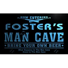 qb1093-b Foster's Man Cave Baseball Neon Beer Sign