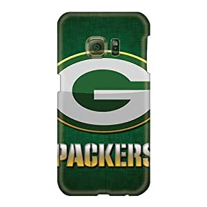 Durable Hard Phone covers cases for Merry Christmas and New Year For Samsung Galaxy S6 With Provide Private Custom High-definition Green Bay Packers Skin JohnPrimeauMaurice