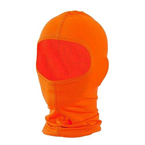 Nylon Balaclava Facemask Head & Neck Warmer BLAZE ORANGE