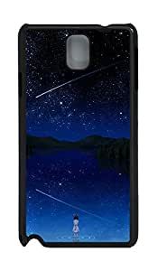 Samsung Note 3 Case Girl And Stars PC Custom Samsung Note 3 Case Cover Black