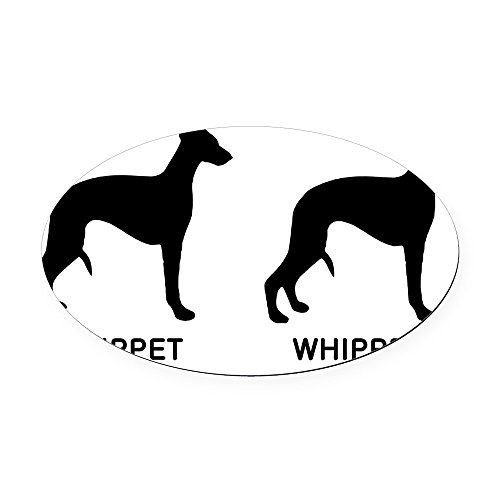 Whippet Dog Magnet - CafePress - WHIPPET, WHIPPET GOOD! Oval Car Magnet - Oval Car Magnet, Euro Oval Magnetic Bumper Sticker