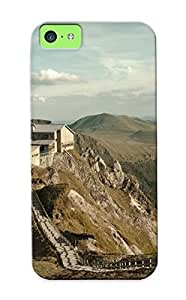 New XxdDPru1947yeCjV Mountain Top House Skin Case Cover Shatterproof Case For Iphone 5c