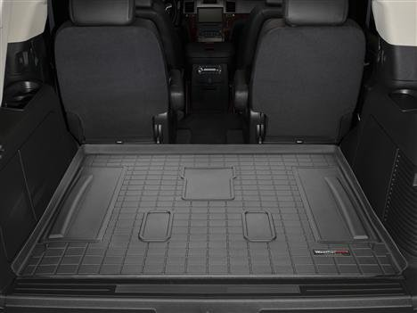 (WeatherTech 2007-2014 Chevy Tahoe with 3rd Row Seating Custom Cargo Trunk Liners - Black )