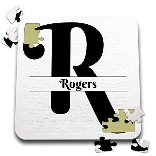 - 3dRose BrooklynMeme Monograms - Bold Script Monogram R - Rogers - 10x10 Inch Puzzle (pzl_306578_2)