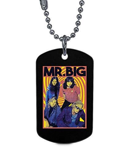 - TAMPSHOP Mr. Big Band Dog Tag, Vintage 90s Mr Big Band Tour DogTag Necklaces (Dog Tag Necklaces - Black)