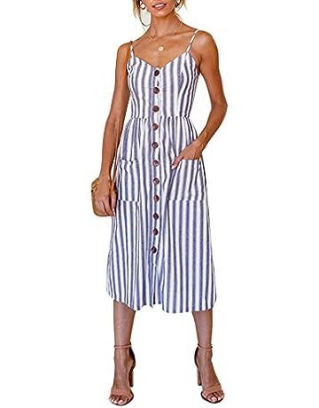 7755e9ac6fa ZOEREA Women's Midi Dress Sundresses for Women Floral Prints Summer  Clothing for Women