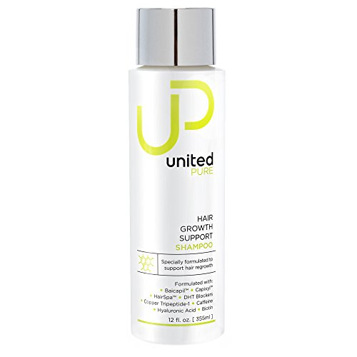 New UP Hair Growth Support Shampoo - United Pure Big 12oz DHT Blocking Anti Hair Loss w/Baicapil, Capixyl, HairSpa, Biotin, Hyaluronic Acid, Keratin, Copper Tri-Peptide 1, Saw Palmetto & More