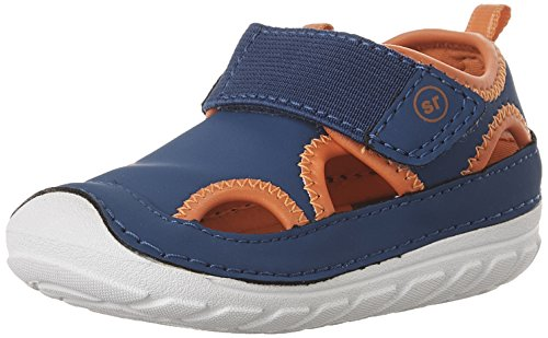 Stride Rite Soft Motion Splash Fisherman Sandal (Infant/Toddler), Navy/Orange, 6 M US Toddler
