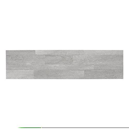Achim Home Furnishings BLDWT10106 Bolder 6in x 24in Self Adhesive Stone Wall Smoke-6 Tiles/6 sq. ft. - Vinyl Flooring Smoke