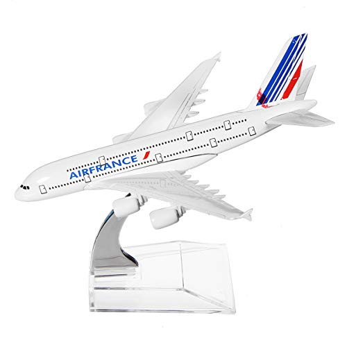 TANCHEN 6.1inch Planes Airplane Model Diecast Aircraft Model Airline Kit Kids Adult Alloy and Transparent Plastic Support Base Science ()