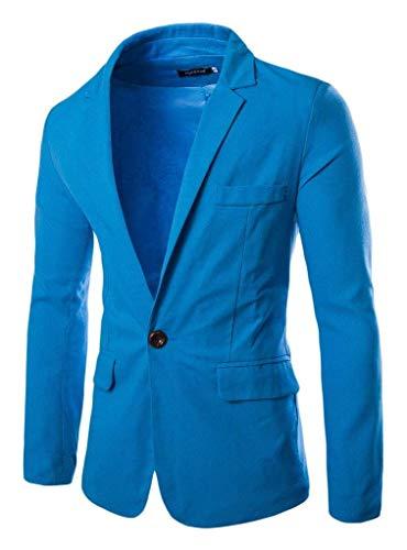 Essential Button Orange Fit Jacket Blazer Short Tailleur Casual Slim Homme 1 Vestes zP40w