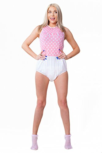 ABDL ASC Pink Adult Baby Romper (Small)