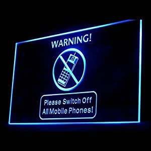 Switch Off Mobile Phones Advertising LED Light Sign