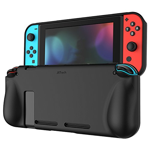 JETech Protective Case Cover with Shock-Absorption and Anti-Scratch Design for Nintendo Switch (Black)