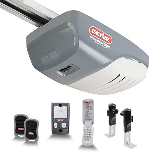 Genie Model 3042-TKH SilentMax 1000 3/4 HPC Belt Drive Added Wireless Keypad Garage Door Opener, 140 V DC Motor & C-Channel Rail System