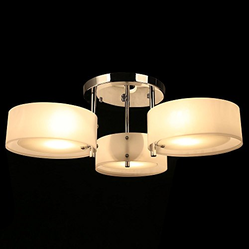 Modern Chandelier With 3 x 40W Round Acrylic Ceiling Lights for Dining Room, Bedroom, Living Room[US Stock]