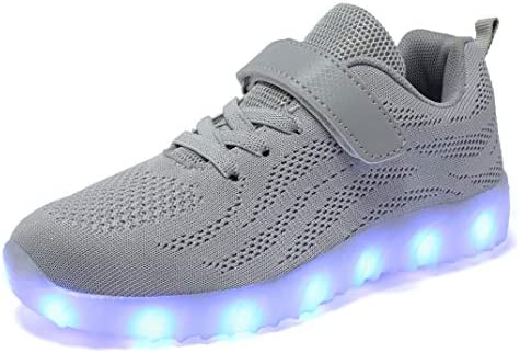 Exquisite LED Light UP Women Girls Flashing Shoes Casual Trainers USB Charging